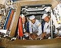 Apollo 11 crew poses for a photograph during a walk-through egress test (48257780407).jpg