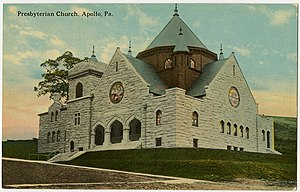 Apollo, Pennsylvania - Apollo Presbyterian Church, before 1923