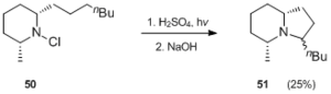 Hofmann–Löffler reaction - Image: Applications in synthesis Scheme 17