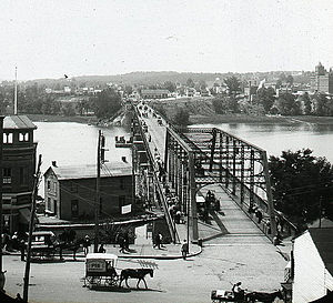 Aqueduct Bridge (Potomac River) - Aqueduct Bridge from Georgetown, ca. 1900