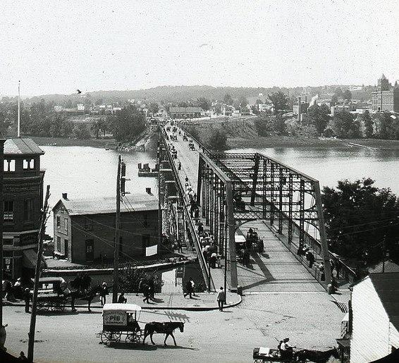 Aqueduct Bridge - c 1900 from Georgetown - Washington DC