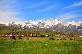 Mount Aragats Mountain in the Lesser Caucasus
