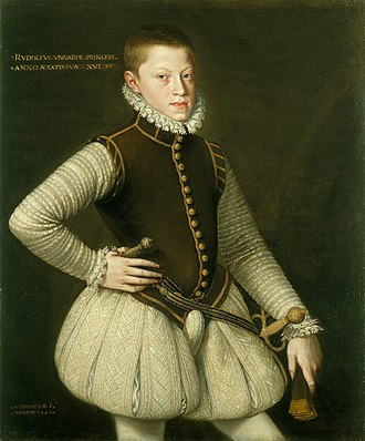 Rudolf II, Holy Roman Emperor - Archduke Rudolf, aged 15, painted by Alonso Sánchez Coello.