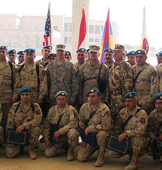 Armenian Army - Armenian soldiers in Iraq