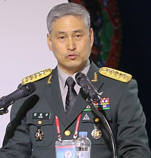 Joint Chiefs of Staff (South Korea) - Image: Army (ROKA) General Kim Yong woo 육군대장 김용우 (US Army photo 170917 A LT463 005 Top land forces commanders from 28 nations gather to address non traditional security threats)