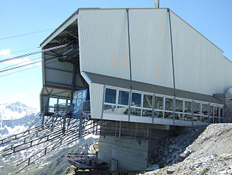 Aroser Weisshorn - The top station of the cable car, near the summit