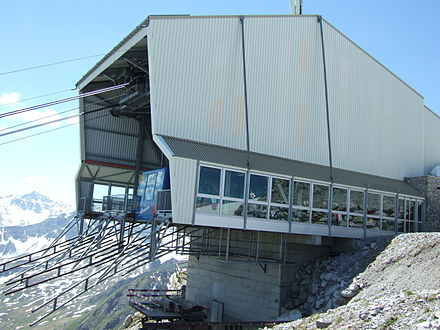 The top station of the cable car, near the summit Arosa Weishorn Top Station.jpg