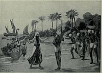 Arrival of the Jewish pilgrims at Cochin, South India, 68 CE., but earlier Jewish traders arrived in India by 562 BCE.
