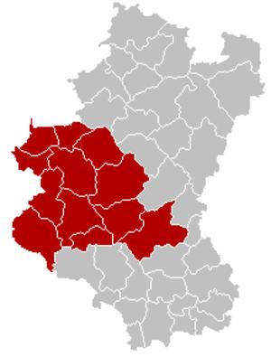 Arrondissement of Neufchâteau, Belgium - Image: Arrondissement Neufchâteau Belgium Map