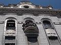 Art Nouveau apartment building. Listed ID 8544. Köztelek street. Round window and balcony. - 26, Ráday street, Budapest District IX.JPG