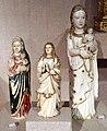 Arte indo-portoghese, nostra signora dlela rosa e altre madonna, avorio, xvi, xvii e xviii secolo.jpg