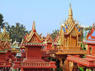Spirit house - Cambodian style spirit houses.