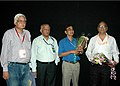 Arun Gongade (director) and Kuldeep Sinha, Chief Producer of Films Division at the presentation of the film Kati Patang during the 37th International Film Festival (IFFI-2006) in Panaji, Goa on November 27, 2006.jpg