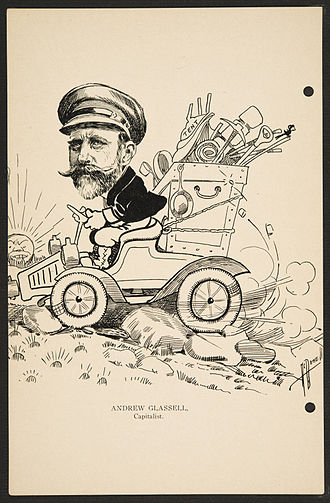 Andrew Glassell - Caricature of Andrew Glassell c.1904-1911