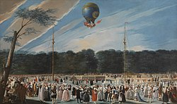 Antonio Carnicero: Ascent of a Montgolfier Balloon at Aranjuez