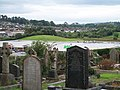 Asda from the old cemetery of Downpatrick's Cathedral - geograph.org.uk - 1468182.jpg