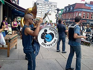 Ottawa Chamberfest - Asphalt Orchestra performing in Ottawa's Byward Market as part of the Guerrilla Gig series hosted by Ottawa Chamberfest 2011.