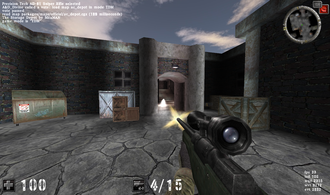 AssaultCube - A screenshot of AssaultCube