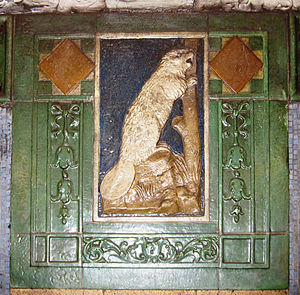 New York City Subway tiles - Faience plaque with beaver at Astor Place
