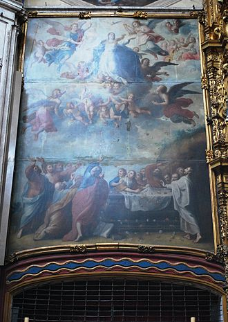 "La Enseñanza Church - Close up of ""The Assumption of Mary"""
