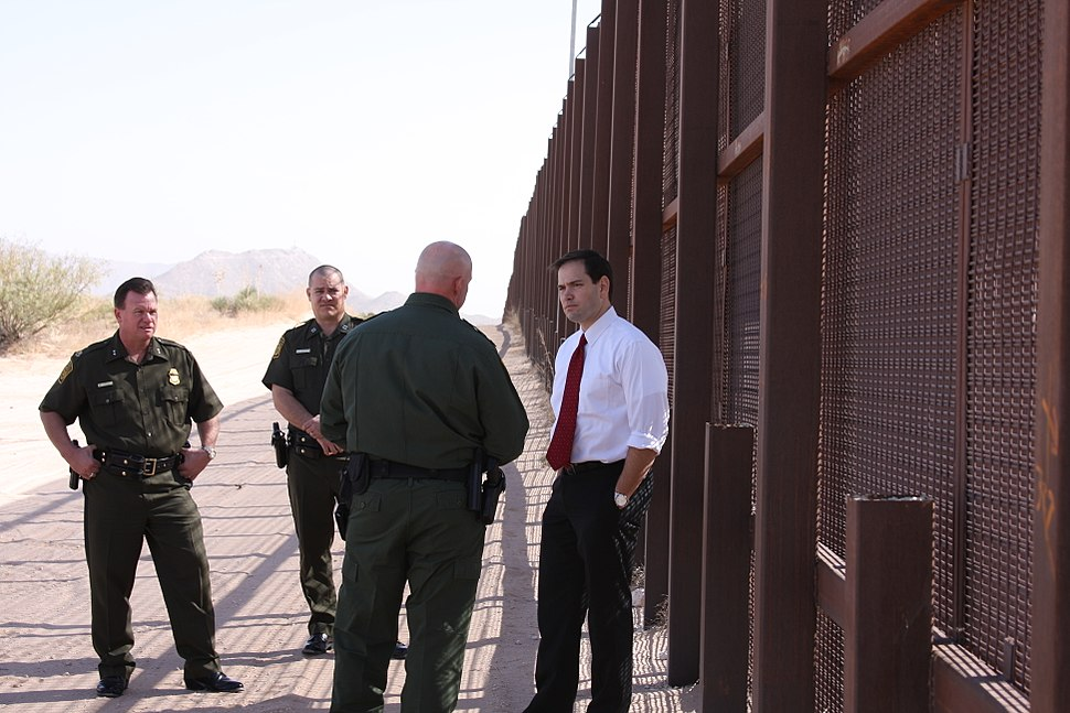 At US-Mexican border in November 2011 with Customs and Border Patrol