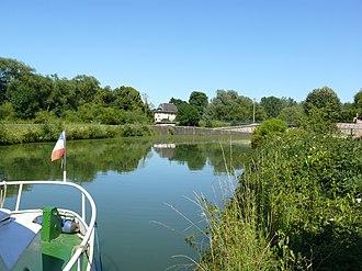 Attigny, Ardennes - The Canal des Ardennes at Attigny