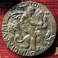 Attr. incerta, medaglia di carlo VIII di francia, verso con ercole e il leone.JPG