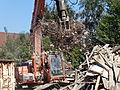 Auberchicourt - Démolition des Grands bureaux de la Compagnie des mines d'Aniche le 2 septembre 2013 (09).JPG