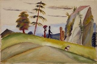 Strollers in a Rocky Landscape
