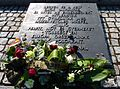 Auschwitz - Memorial tablet for the victims in Hungarian.jpg
