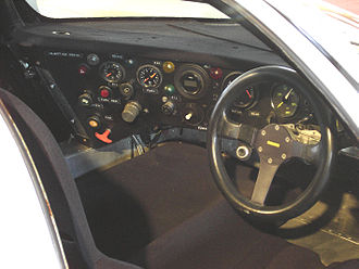 Porsche 962 - An early 962 cockpit.