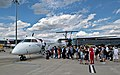 Austrian Airlines Bombardier Dash 8 Q400 (flight 683) boarding at Vienna Airport, Austria (DSC 0003).jpg