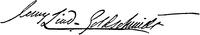 Autograf, Jenny Lind Goldschmidt, Nordisk familjebok.png