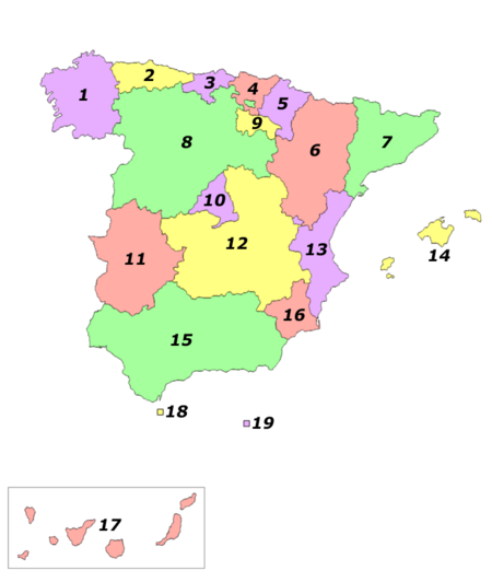 kart nord spania Spania – Wikipedia kart nord spania