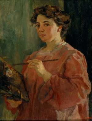 Lluïsa Vidal - self portrait of Lluïsa Vidal