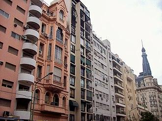 Balvanera - Eclectic architecture along Callao Avenue.