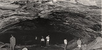 National Register of Historic Places listings in Bingham County, Idaho - Image: Aviator's Cave with people