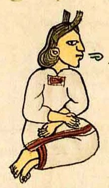 Aztec woman speaking
