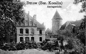 Bytów - Bütow around 1900.