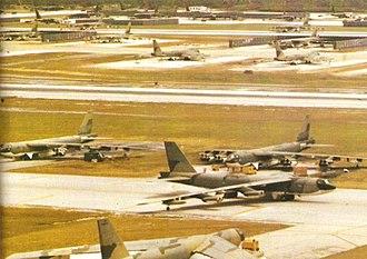 Guam - B-52 at Andersen Air Force Base, during Operation Linebacker II in Vietnam War, 1972