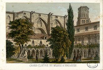 Musée des Augustins - A 19th-century illustration of the Musée des Augustins de Toulouse