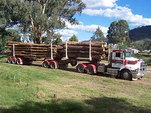 Logging truck - B double logging truck in Australia