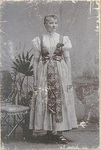 Woman in Silesian dress from Teschen, 1914