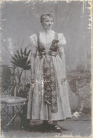 Silesians - Woman in Silesian dress from Cieszyn Silesia, 1914