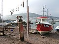 Back Beach boat and bird feeders. - geograph.org.uk - 646040.jpg
