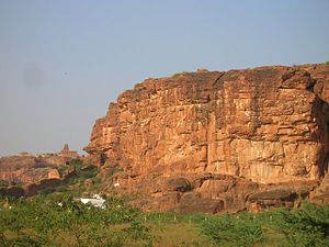 Badami - Badami Cliffs