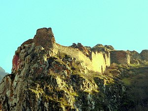 Kapan - The remains of the 4th-century Baghaberd fortress near Kapan