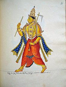 Balarama, elder brother Krishna with Hala 1830 CE.jpg