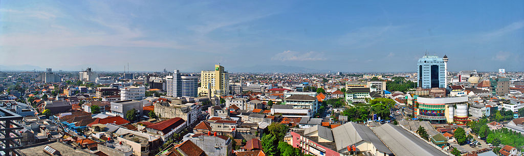Cityscape views of Bandung City, Indonesia