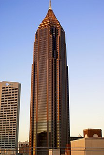 Bank of America Plaza (Atlanta) skyscraper located in the SoNo district of Atlanta, Georgia